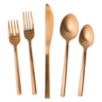 Fortessa® Arezzo 20-Piece Flatware Set in Rose Gold