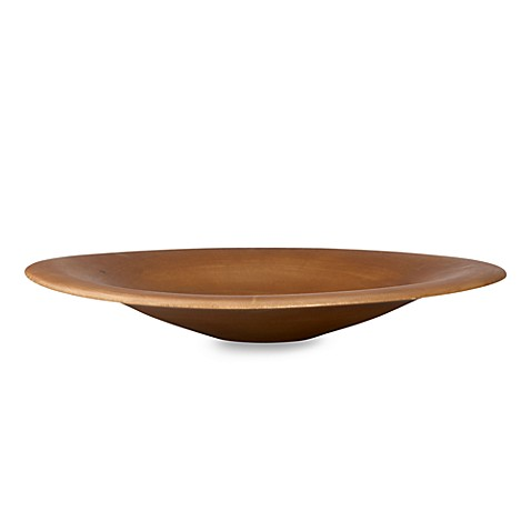 Donna Karan Lenox® Hand-Carved Wood Smooth Charger/Bowl