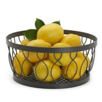 Gourmet Basics by Mikasa® Rustic Farmstand Metal Fruit Basket in Vintage Grey