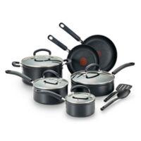 T-Fal® Titanium Advanced Nonstick Aluminum 12-Piece Cookware Set in Black