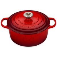 Le Creuset® Disney® Mickey Mouse 4.5 qt. Cast Iron Round Dutch Oven in Cerise