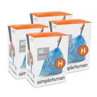 simplehuman® Code H 240-Pack 30-35-Liter Custom-Fit Recyclable Liners in Blue