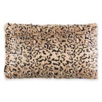 Safavieh Zuma Cheetah Oblong Throw Pillow in Brown