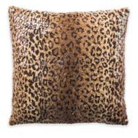 Safavieh Zuma Cheetah Square Throw Pillow in Brown