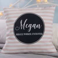 Personalized Patterned Name Meaning 18-Inch Throw Pillow