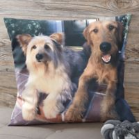 Personalized Pet Photo Memories 18-Inch Throw Pillow