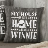 Personalized Our Pet Home 14-Inch Throw Pillow