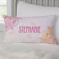 Personalized Mandala Lumbar Throw Pillow