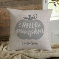 Personalized Hello Pumpkin 14-Inch Throw Pillow