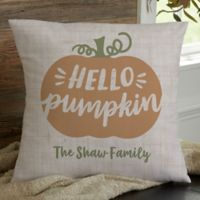 Personalized Hello Pumpkin 18-Inch Throw Pillow