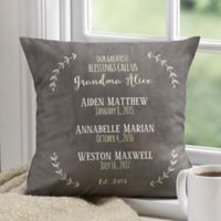 Personalized Our Grandchildren 14-Inch Throw Pillow