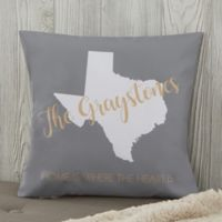 Personalized State Pride 14-Inch Throw Pillow