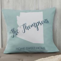 Personalized State Pride 18-Inch Throw Pillow