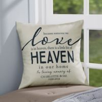 Personalized Heaven In Our Home 14-Inch Memorial Throw Pillow