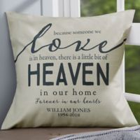 Personalized Heaven In Our Home 18-Inch Memorial Throw Pillow