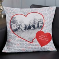 Personalized Love You This Much 18-Inch Photo Throw Pillow