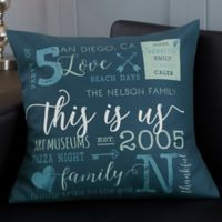 Personalized This Is Us 18-Inch Throw Pillow