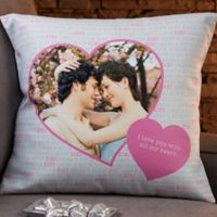 Personalized Love You This Much 18-Inch Throw Pillow