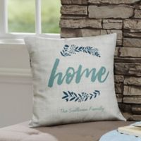 Personalized Cozy Home 14-Inch Throw Pillow