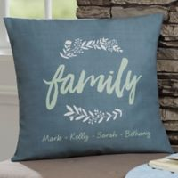 Personalized Cozy Home 18-Inch Throw Pillow