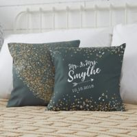 Personalized Sparkling Love 14-Inch Throw Pillow