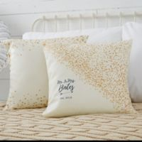Personalized Sparkling Love 18-Inch Throw Pillow