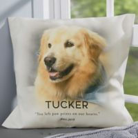 Personalized Pet Memorial 18-Inch Throw Pillow