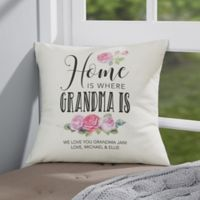 Personalized Home Is Where Mom Is 14-Inch Throw Pillow