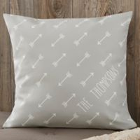 Personalized Arrows 18-Inch Throw Pillow