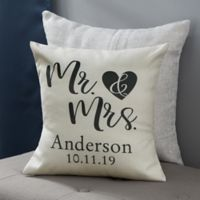 Personalized Elegant Couple 14-Inch Throw Pillow