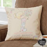 Personalized Precious Moments® Flower Bouquet 14-Inch Throw Pillow