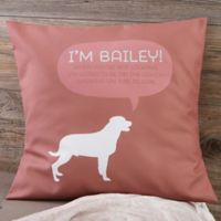 Personalized Pet Life 18-Inch Throw Pillow