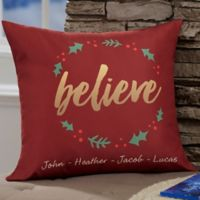 Personalized Cozy Christmas 18-Inch Throw Pillow
