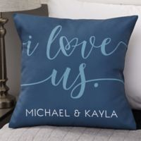 Personalized I Love Us 18-Inch Throw Pillow