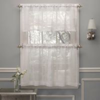 Crushed Voile 36-Inch Window Curtain Tier Pair in White