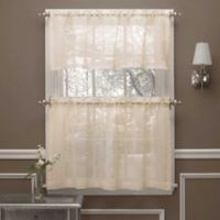 Crushed Voile 45-inch Window Curtain Tier Pair in Ivory