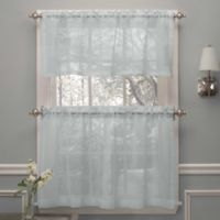 Crushed Voile 36-Inch Window Curtain Tier Pairs in Spa