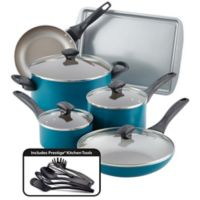 Farberware® Nonstick Aluminum 15-Piece Cookware Set in Teal