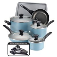Farberware® Nonstick Aluminum 15-Piece Cookware Set in Aqua