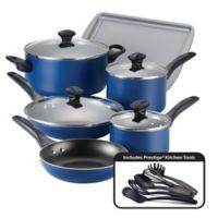 Farberware® Nonstick Aluminum 15-Piece Cookware Set in Blue