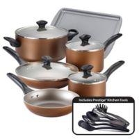 Farberware® Nonstick Aluminum 15-Piece Cookware Set in Copper