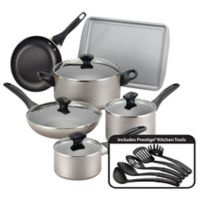 Farberware® Nonstick Aluminum 15-Piece Cookware Set in Champagne