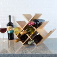 Classic Cuisine Bamboo 8-Bottle Tabletop Wine Rack