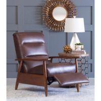 Klaussner® Loren Leather High Leg Recliner in Walnut/Brown