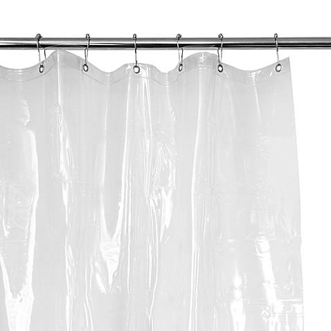 Shower curtain liner in clear heavy eight gauge premium vinyl shower