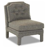 Klaussner® Polyester Upholstered Maclaren Chair in Peacock