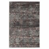 Linon Home Vintage Aristocrat Trellis 5' x 7'6 Area Rug in Grey/Blue