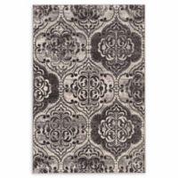Linon Home Vintage Aristocrat Arthur 5' x 7'6 Area Rug in Grey