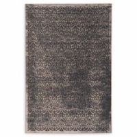 Linon Home Vintage Aristocrat Illusion 9' x 12' Area Rug in Blue