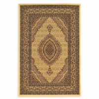 Linon Home Empress Mahi Tabriz 9' x 12' Area Rug in Cream